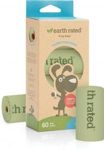 Earth Rated unscented compostable poop bags