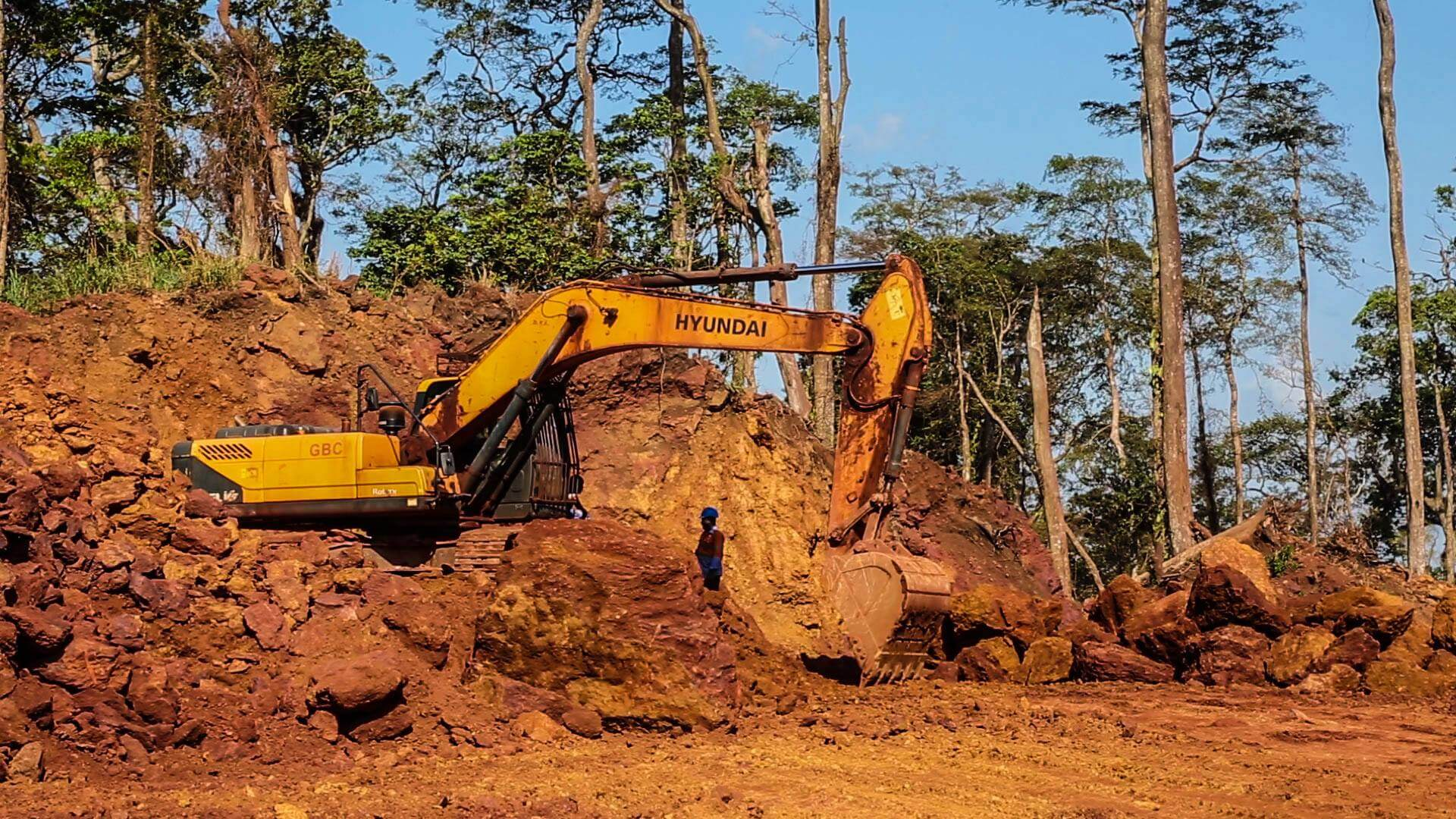 """Strip mining for bauxite destroys the entire habitat, creating """"a desert of red mud"""" © A Rcoha"""