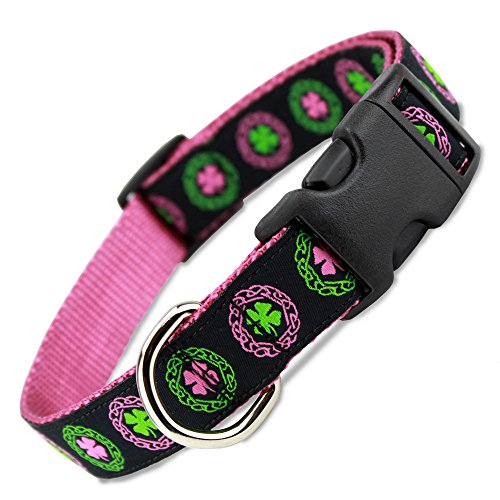 Pink Celtic Knots Dog Collar