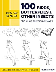 Draw Like an Artist: 100 Birds, Butterflies, and Other Insects,by Melissa Washburn, Quarry Books