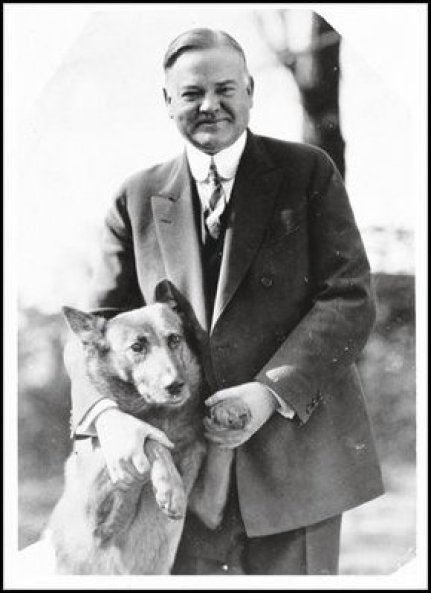 Hoover and presidential pet King Tut