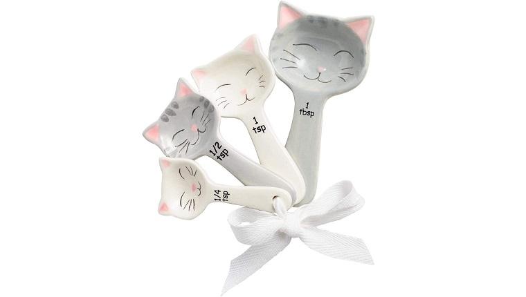 Cat Shaped Ceramic Measuring Spoons