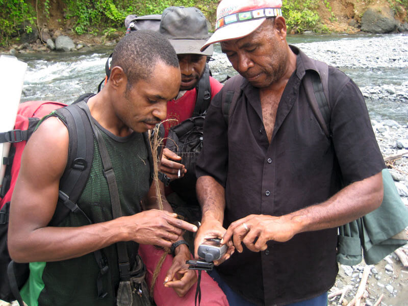 GPS tracking with the TCA field team © TCA