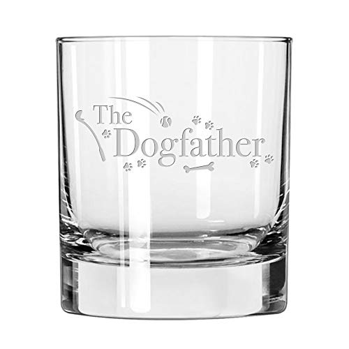 whiskey tumbler etched with the words