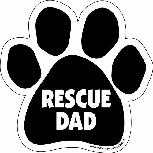 black paw magnet with