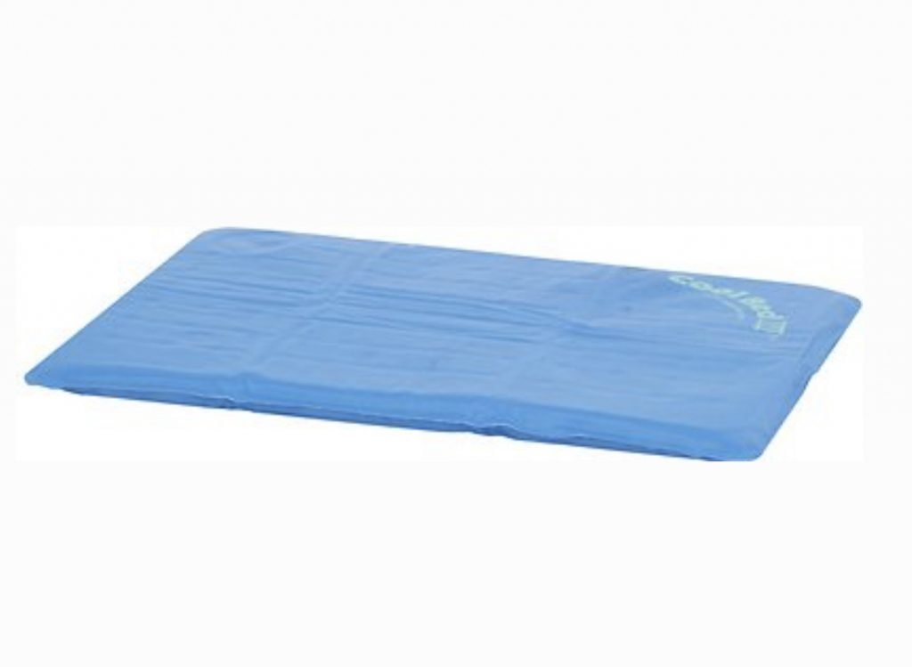 blue K&H cooling pad for cats