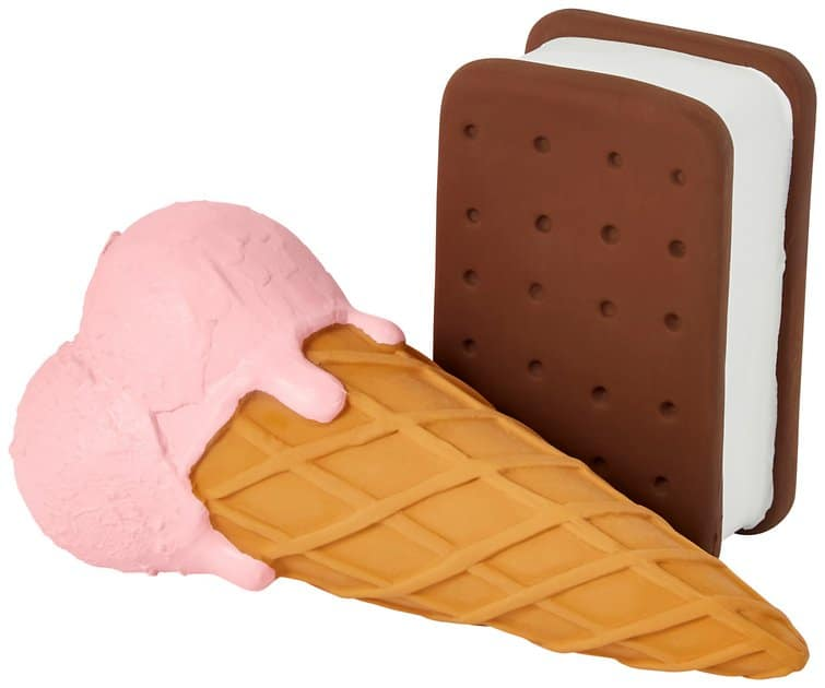 Pink dog ice cream cone and sandwich toy