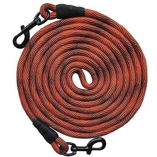 orange cord-style dog yard leash