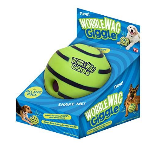 Wobble Wag Giggle ball dog toy in package