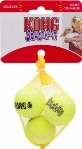 three-pack of Kong Squeakair squeaker tennis balls