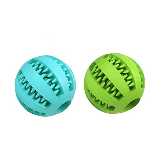 set of two rubber treat balls