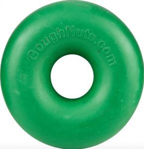 GoughNuts green doughnut-shaped USA-made dog toy