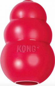 Kong classic dog toy in red