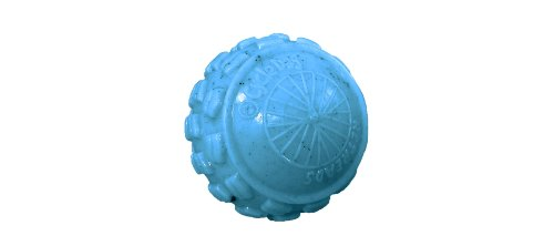 Cycle Dog High Roller Ball Dog Toy in blue, textured around the perimeter
