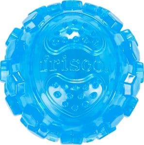 blue Frisco Fetch TPR Squeaking Ball Toy textured surface