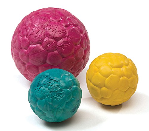 West Paw Zogoflex Air Boz squishy textured balls in three colors and two sizes