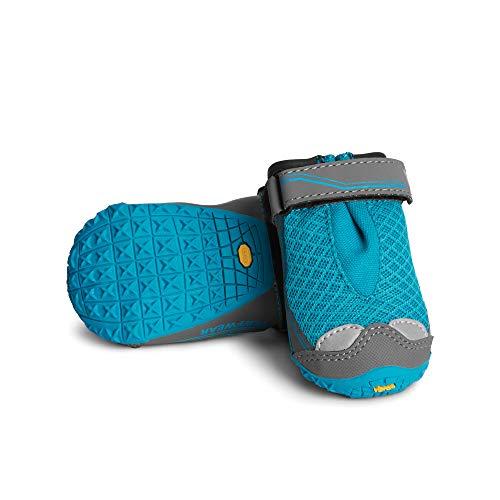 one pair Ruffwear Grip Trex in turquoise blue