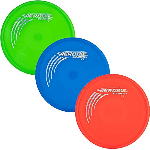 Aerobie Squidgie in three colors green, blue, red