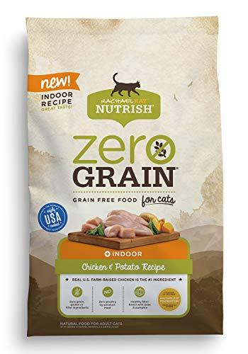 Bag of Rachael Ray Zero Grain dry food for indoor cats