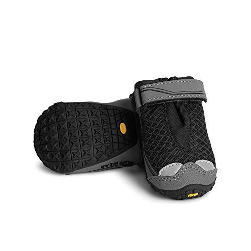 pair of black Ruffwear Grip Trex dog hiking gear boots