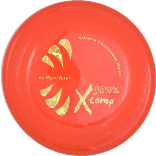 orange hard Hyperflite Jawz X-Comp frisbee