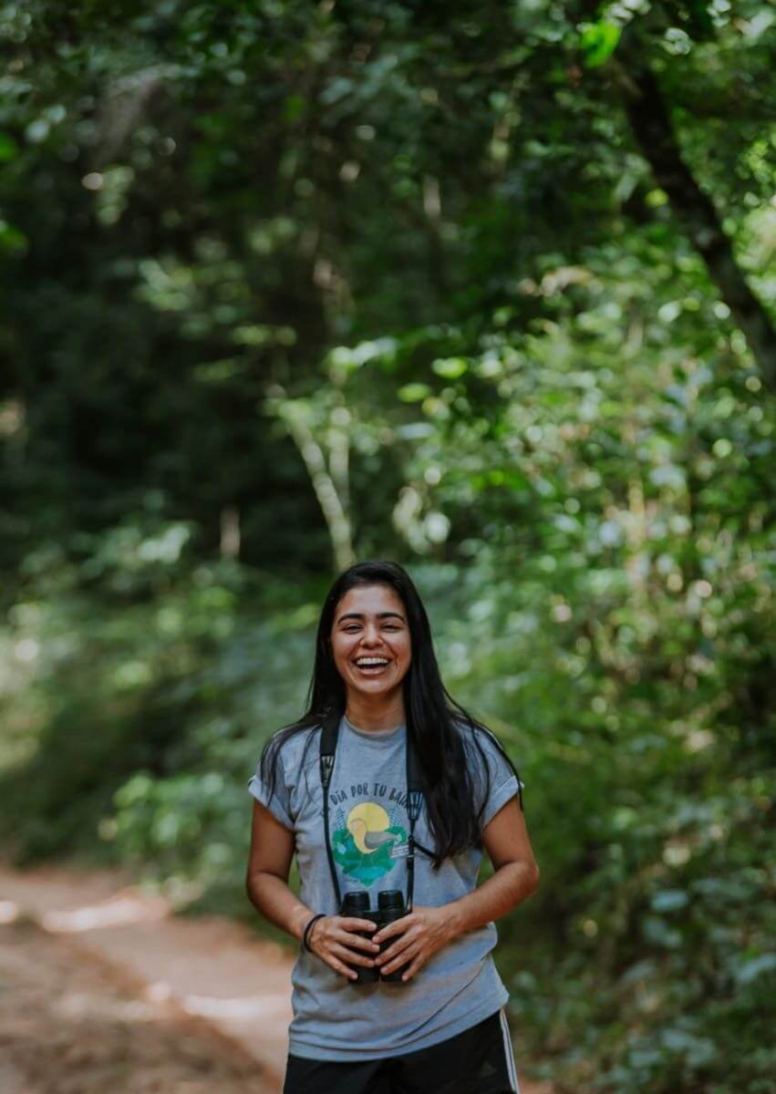 """""""I knew when I was five years old that I wanted to be involved in biodiversity,"""" says Fabiana Benítez. Courtesy of Trillion Trees."""